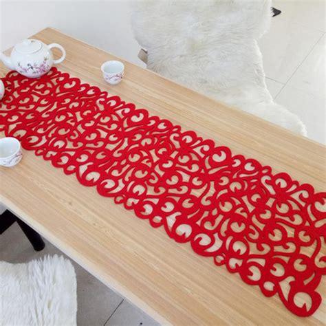 felt table mats hollow felt tablecloth runner placemats table mats