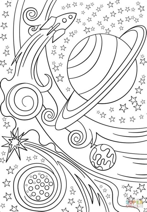 marvelous picture  outer space coloring pages planet coloring pages space coloring pages