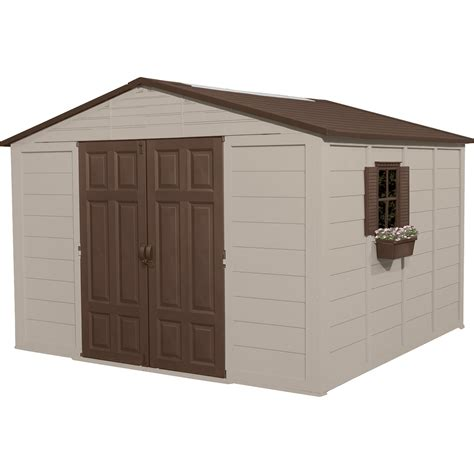 suncast storage sheds home depot product suncast storage building 10ft x 10ft 625 cu