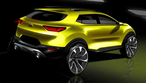 kia picanto 2018 kia stonic previewed in new sketches update