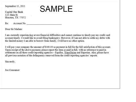 printable settlement letter sample form generic