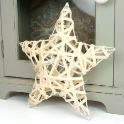 small cream wicker wire star christmas outdoor