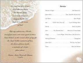 memorial service program template best business template