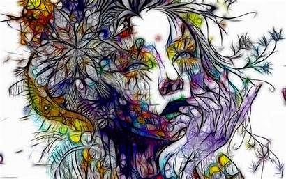 Artistic Woman Female Abstract Artwork Wallpapers Background