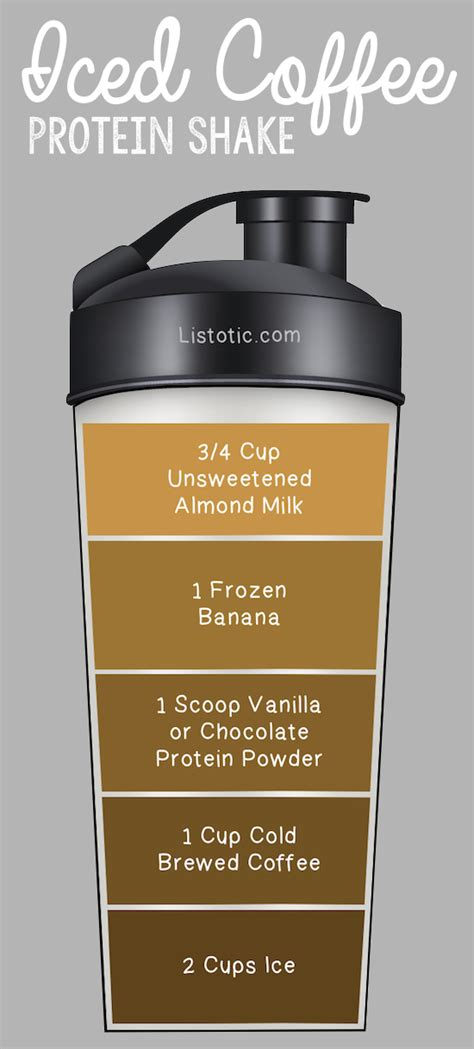 iced coffee protein shake recipe  lose weight