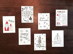 Ideen Zum Zeichnen : doodle diy doo 7 ideen zum weihnachtskarten zeichnen und gestalten creatipster ~ Yasmunasinghe.com Haus und Dekorationen