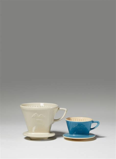Also, throughout europe, this name is recognized as the best. Melitta Bentz KG, after a design by Melitta Bentz Two cup-shaped Melitta porcelain coffee ...