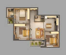 Open Floor Plans For Small Homes 3d Model Home Interior Fully Furnished 3d Model Max Cgtrader