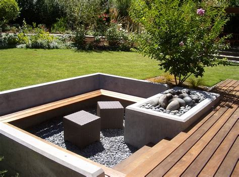 landscape seating sunken seating areas that spark conversations