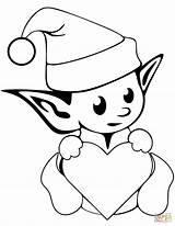 Elf Coloring Elves Pages Christmas Printable Cute Drawing Simple Print Outstanding Nice Shelf Colouring Colorings Clipartmag Drawings Crafts Adult Pretty sketch template