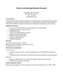 entry level banking resume objective exles resume objective sles for entry level banking resume entry level resume sles