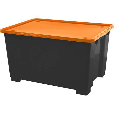 bac rangement leroy merlin bac de rangement en plastique cbox m 233 ga h 45 x l 78 x p 56cm 140l leroy merlin