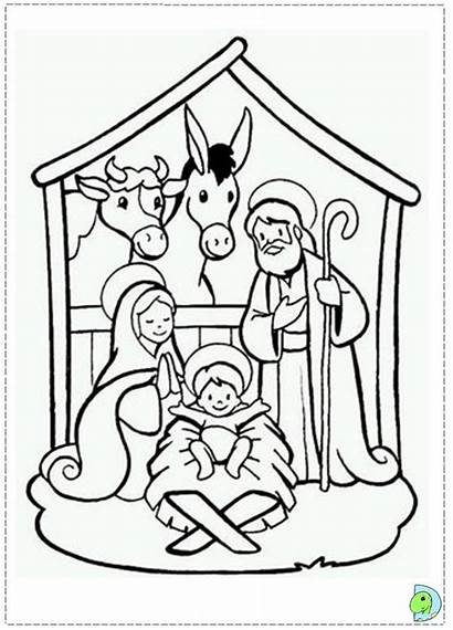 Nativity Pages Coloring Christmas Manger Scene Away