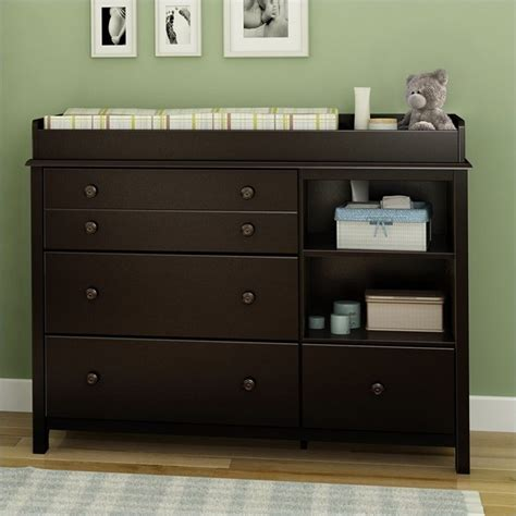 south shore changing table south shore little smiley espresso baby changing table ebay