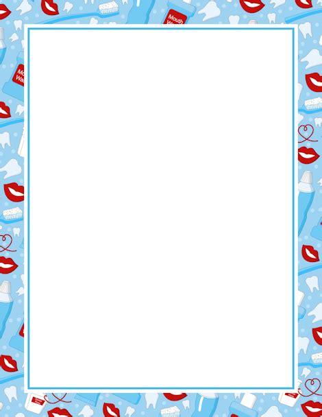 Dental Page Border Clip Art