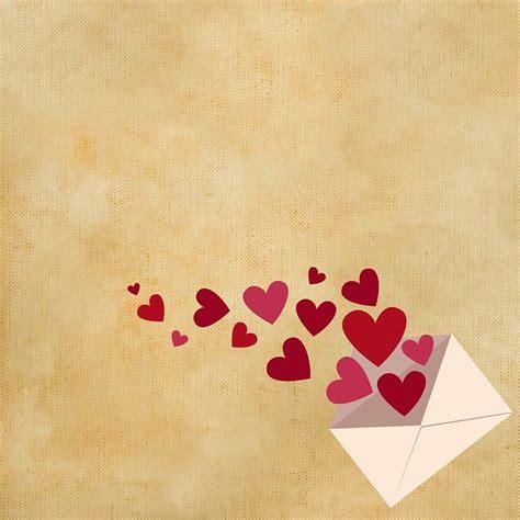 illustration gratuite arriere plan lettres coeur