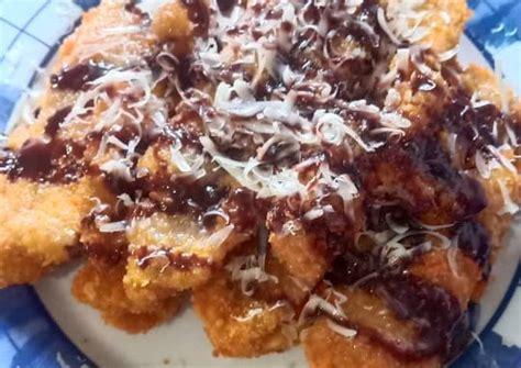 Bahwa pisang goreng crispy ini dapat menjadi bagian dari gaya hidup, Resep Pisang Goreng Crispy Penyet Keju Coklat oleh Vivi Saputro - Cookpad