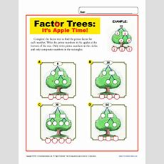 Apple Time  Math Factor Tree Worksheets For 4th Grade