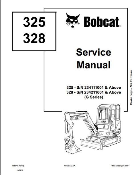 bobcat   compact excavator service repair workshop manual   repair