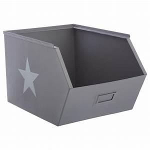 Casier De Rangement : casier de rangement en m tal 32cm gris ~ Teatrodelosmanantiales.com Idées de Décoration