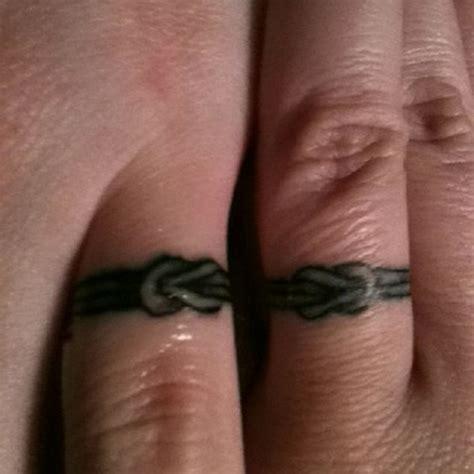 rope wedding ring tattoos 148 sweet wedding ring tattoos