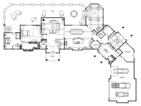 Custom Ranch Floor Plans by One Story Log Home Floor Plans One Story Log Home Interior