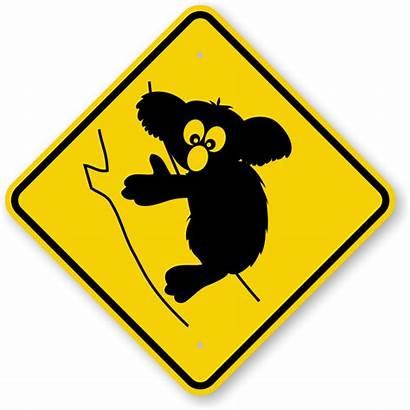 Animal Sign Crossing Koala Signs Tree Graphic