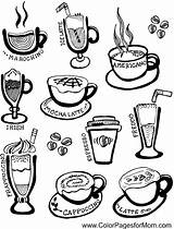 Coffee Coloring Pages Adult Cup Wine Adults Tea Colorpagesformom Colour Dover sketch template