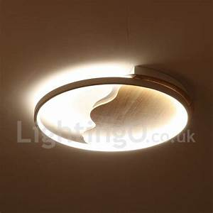 Dimmable Video Light Dimmable White Cloud Round Wood Ceiling Light Led