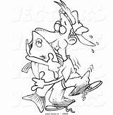Cartoon Bass Outline Coloring Fish Vector Hugging Clipart Fishing Cool Leishman Ron sketch template