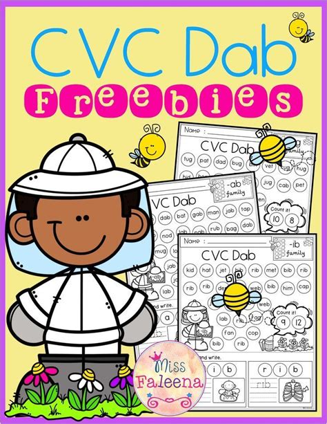 cvc dab  images cvc words kindergarten