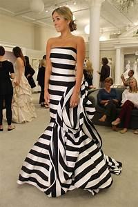 season 14 featured dress antonio riva black and white With black and white striped wedding dress