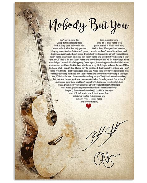 I didn't see it coming at first i didn't have any feelings for you at first at some point, that started to change. Nobody But You Lyrics poster - Tagotee