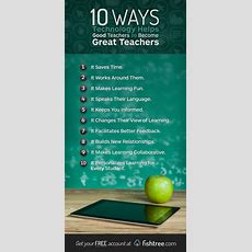 10 Ways Technology Helps Good Teachers To Become Great Teachers Fishtree