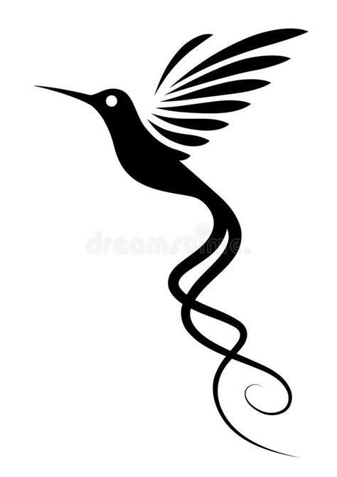 Hummingbird Tattoo. Isolated on white. Decorative vector
