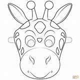 Giraffe Mask Coloring Colorare Carnevale Maschere Colorear Jirafa Printable Animal Masks Mascara Disegni Dibujo Maschera Giraffa Maska Bambini Ausmalbilder Supercoloring sketch template