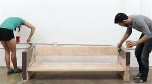 Fabriquer Meuble Bois Facile : diy fabriquer un canap avec des planches de bois et des coussins diy fabriquer un canap ~ Nature-et-papiers.com Idées de Décoration