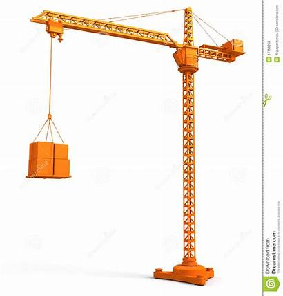 Crane Tower Clipart Illustration 3d Construction Vector