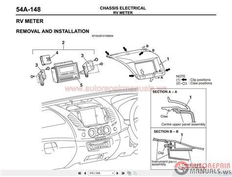 mitsubishi triton  workshop manual   auto