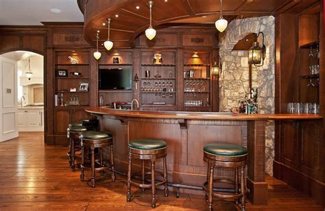 Houzz bar stools home bar traditional with curved bar