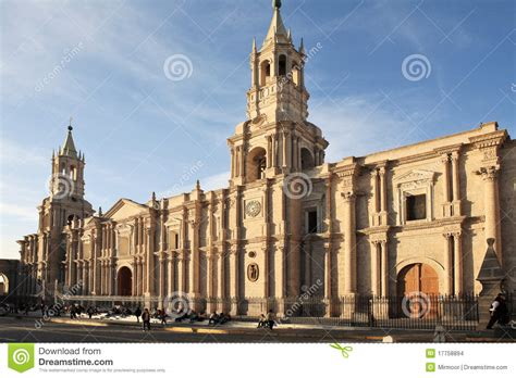 architecture arequipa peru stock photo