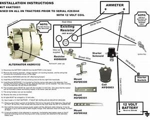 Ford 8n 2n 9n Tractor Alternator Generator Conversion Kit