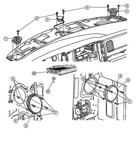 Speaker Part Diagram by 05081671aa Dodge Speaker 3 5 Instrument Panel