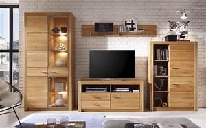 ophreycom meuble de salon blanc et bois prelevement d With idee deco cuisine avec meuble tv bois massif