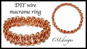 Simple Diy Wire Macrame Ring
