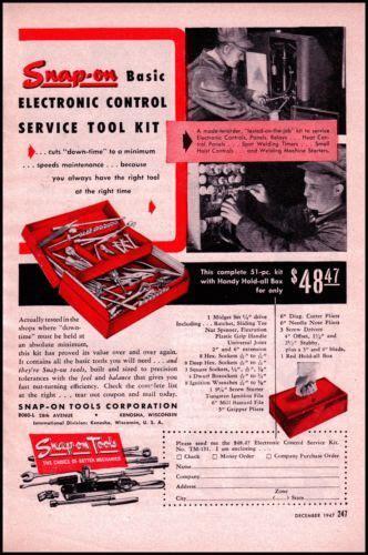 snap  tools original vintage print ad  hardware