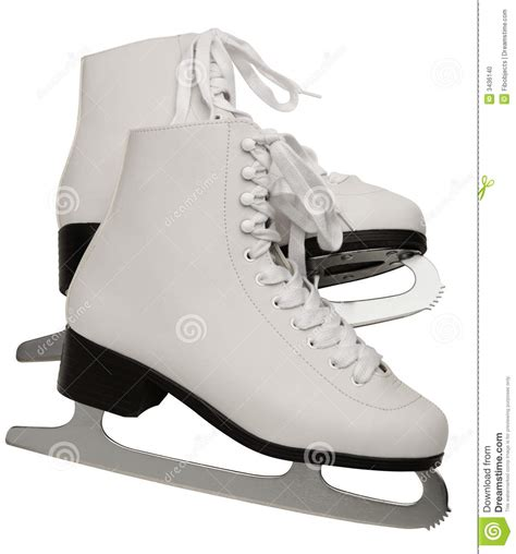 Girls White Bookcase by Pair Of White Figure Skates Stock Photo Image 3436140