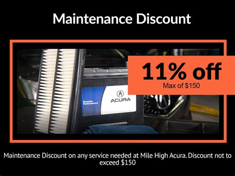 Acura Discount Parts by Acura Auto Service Specials Coupons Mile High Acura In