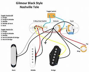 Gilmour Black Nashville Tele Diagram