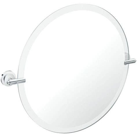Pivot Bathroom Mirror Home Depot by Moen Iso Chrome Mirror With Pivoting Decorative Hardware